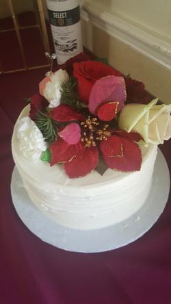 Buttercream and Flower Groom Cake
