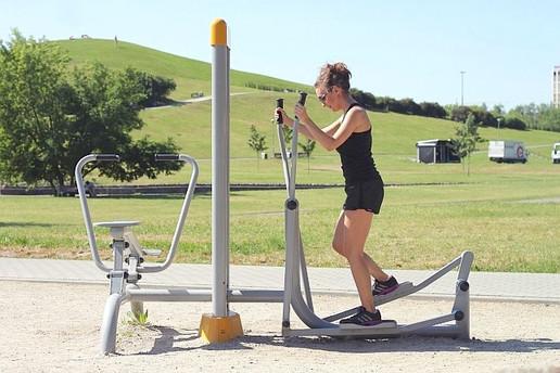 Vélo Elliptique Fitness en Plein Air