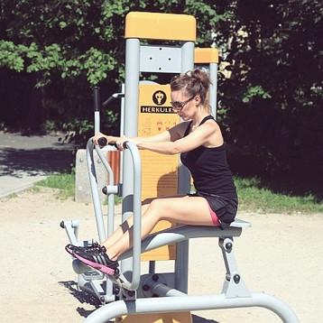 Rameur Fitness en Plein Air