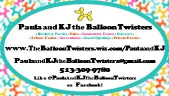 Paula and KJ the Balloon Twisters