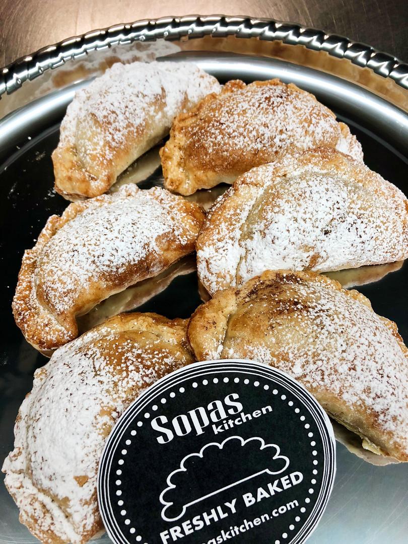 Apple and Dulce de Leche Sopas Kitchen Empanada