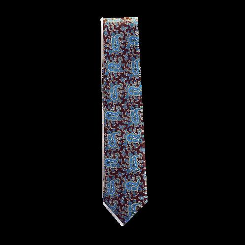 3 FOLDS Tie_printed silk