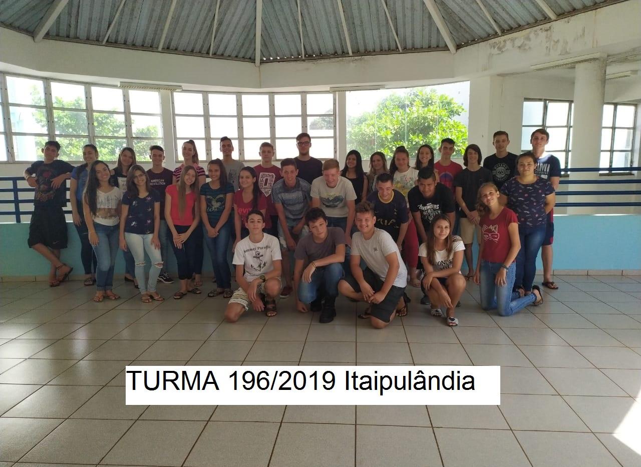 Turma 196/2019 Itaipulândia