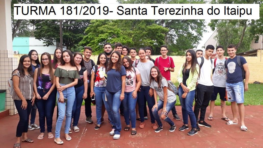 Turma 181/2019 - Santa Teresinha do Itaipu