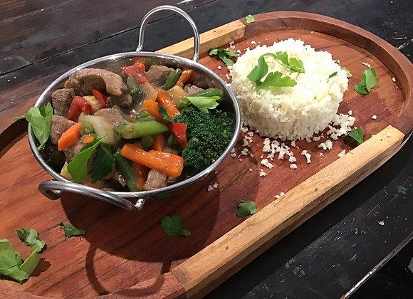 Beef Teriyaki with Cauliflower Rice