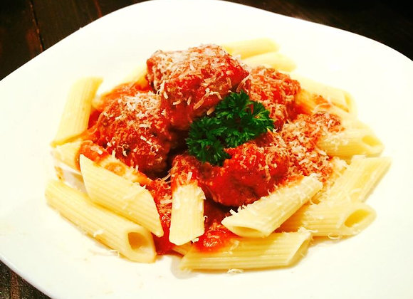 Lean Beef Meatballs with Pasta