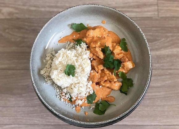 Butter Chicken with Cauliflower Rice