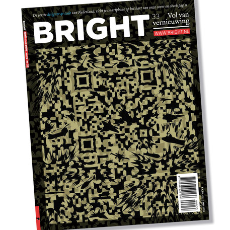 Bright QR code