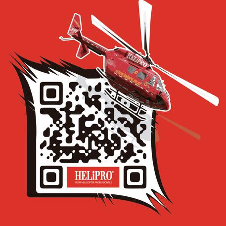 Helipro QR code