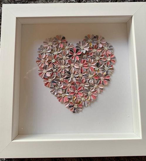 Small Heart: multi pink