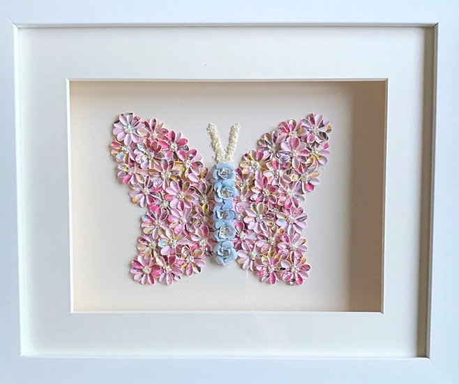 Butterfly: Blue and Pink