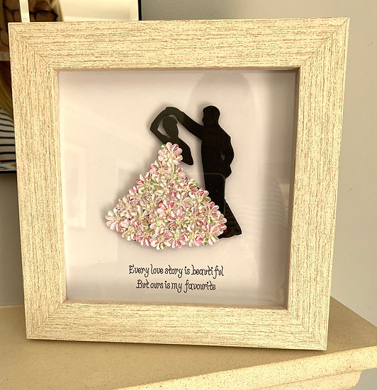 Pink Dancing Couple with Quote