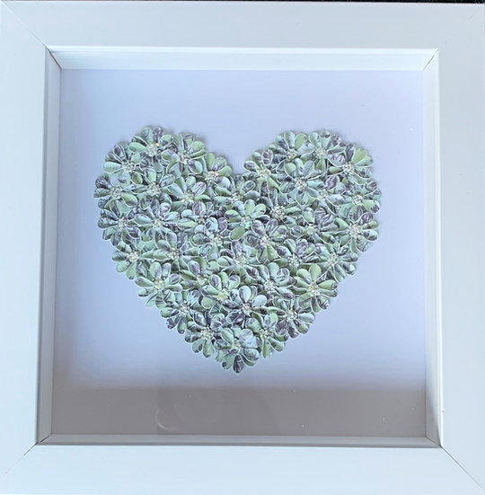 Small Heart:Green and Blue