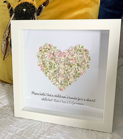 Shimmer Heart with quote for a mother