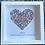 Thumbnail: Medium Heart: Green, Mauve and Pink  SOLD