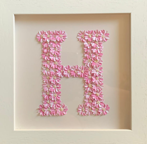 Initial H: Pink and White