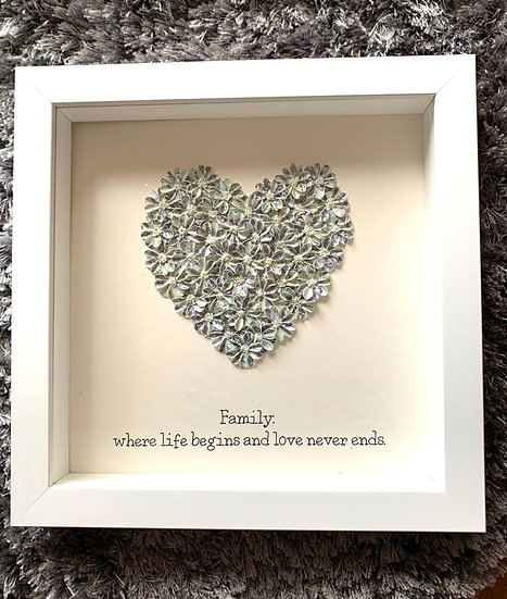 Sage green Quote Heart