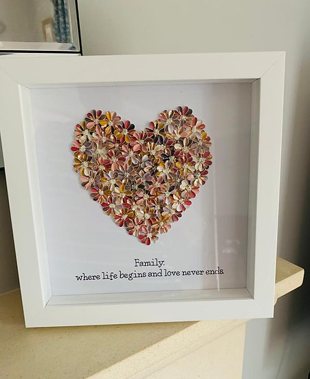 Rose Gold Quote Heart