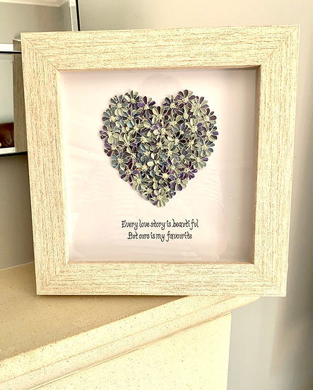 Blue and Green Quote heart