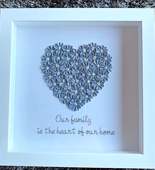 Medium Heart: Blue and Grey SOLD