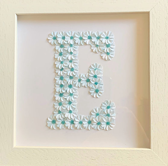 Initial E: White and Blue