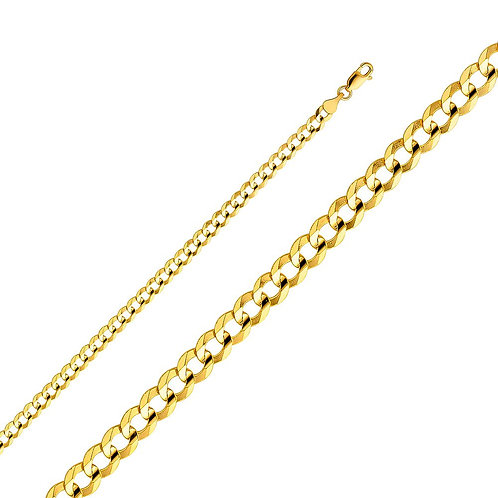 14k Yellow Gold 4.7-mm Cuban Chain Necklace