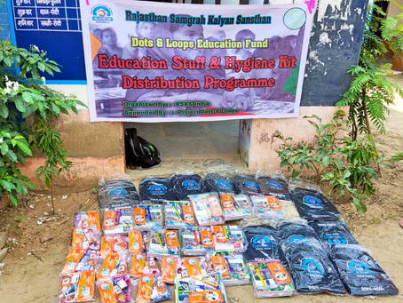 School supplies and hygiene kits in Rajasthan