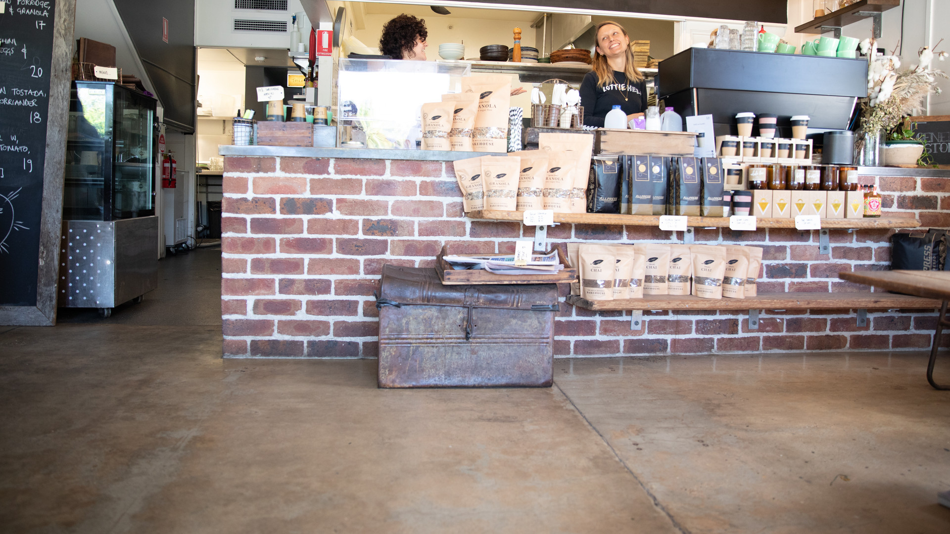 Ballina Cafe Recycled Brick Counter /// View Project