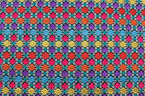 Multi colour embroidery