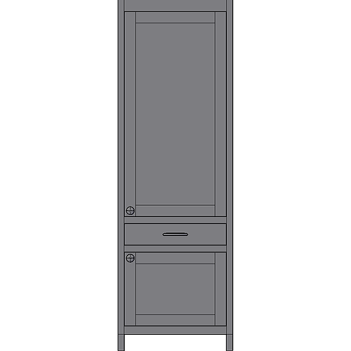 Tall 2 door & 1 Drawer Unit