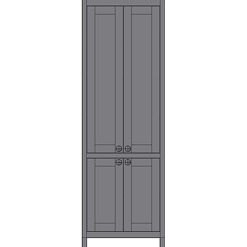 Tall 4 Door Larder Unit with Internal Drawers & Spice racks