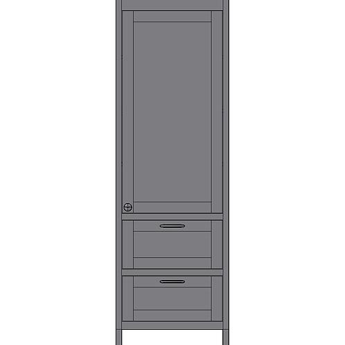 Tall Unit 1 Door & 2 Pan Drawers