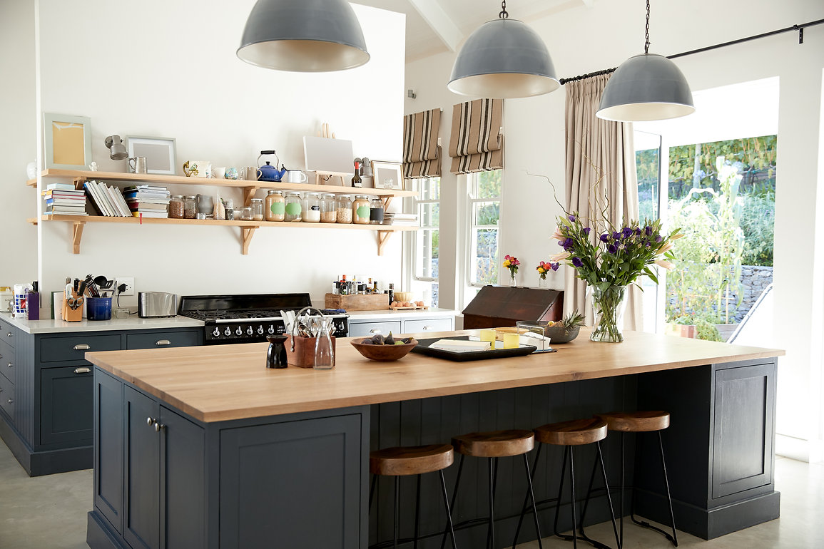Shaker Kitchen, Bespoke Kitchen, Handmade Kitchen, Dark Blue Kitchen