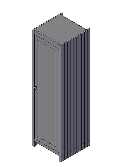 V Groove Style Tall End Panel