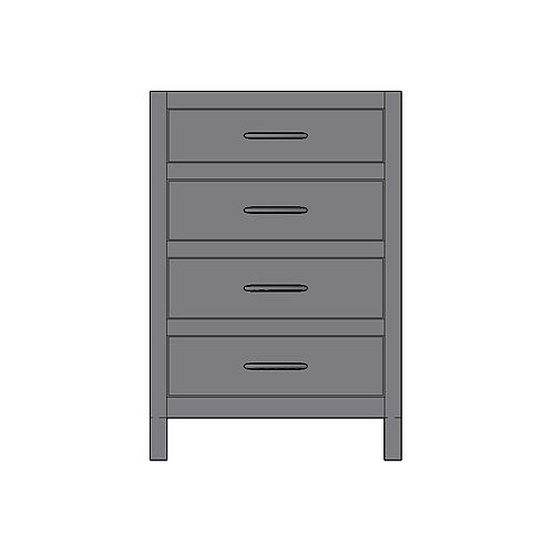 Base Unit 4 Equal Drawers