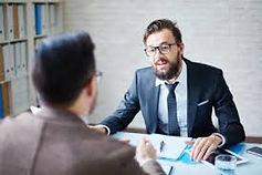 Employer talking to dyslexic employee