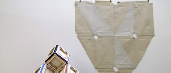 Cube Forms and canvas ensign