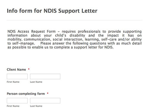 Jotform Instructions and Template for NDIS Letter of Support