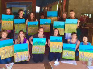 Painting with Crystal Pyren at Grizzly Peak Winery