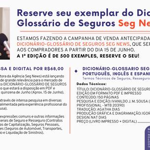 Nova publicação traz termos gerais e técnicos de seguros em Português, Inglês e Espanhol!
