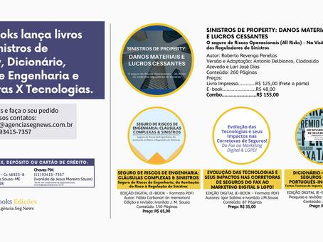 Enter Books lança publicações em ebook sobre Sinistros Property, Dicionário e Riscos de Engenharia!