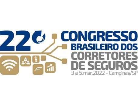 COMUNICADO FENACOR: inscrições no 22º Congresso Brasileiro dos Corretores de Seguros