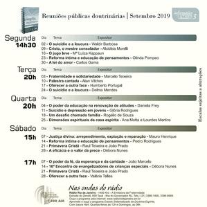 Palestras de Setembro 2019