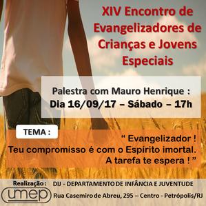 XIV Encontro de Evangelizadores de crianças e jovens especiais