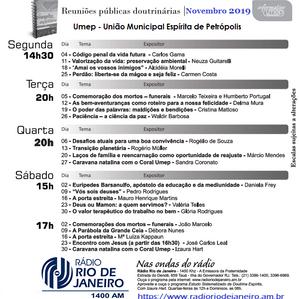 Agenda de Palestras de Novembro 2019