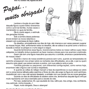 Informativo Umep - Editorial : Mês dos Pais