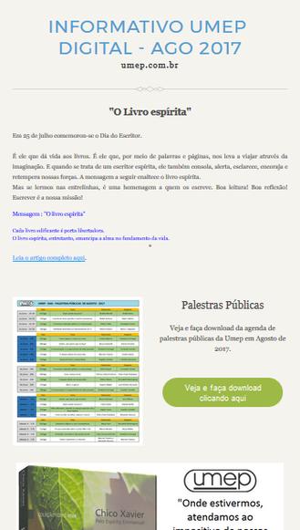 Informativo Umep - Agosto 2017