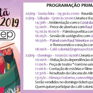 Veja aqui a Programação da Primavera Cristã 2019