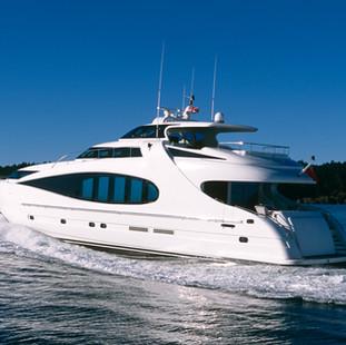 Aerial Luxury Motor Yacht