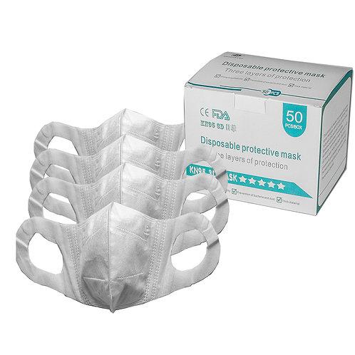 Mascarilla Protectora Uso Civil 3D - 3 capas - Pack x 500 unidades